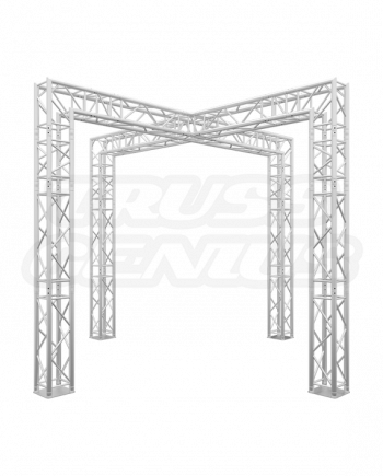 10-Foot Crossover Truss Trade Show Booth - X Truss Design