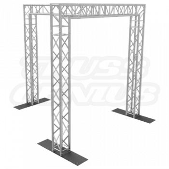 10-Foot Truss Goal Post with 3 Legs and Center Beam