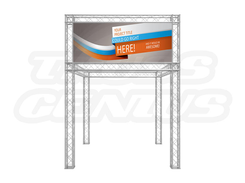 10-Foot Truss Trade Show Booth with Banner Opening Front View