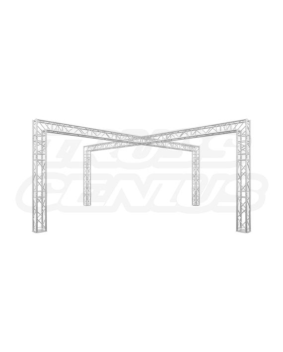 20-Foot Crossover Truss Trade Show Booth - X Truss Design