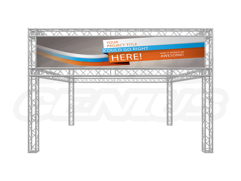 20-Foot Truss Trade Show Booth Double Tear with Signage