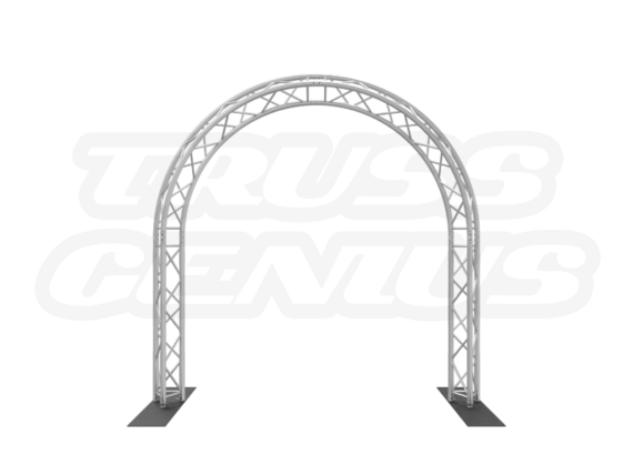 10x10 Circular Arch Truss System made with F33 Triangular Trussing