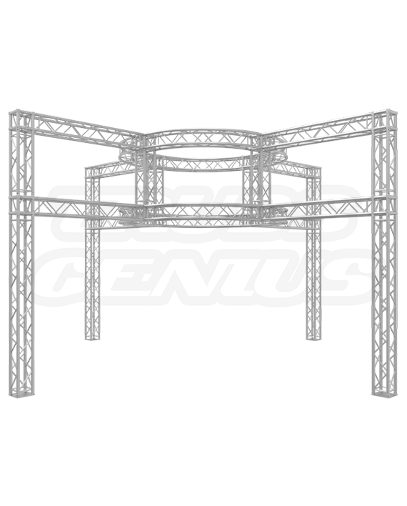 20-Foot Truss Trade Show Booth - Dual Tier Circular Truss Design