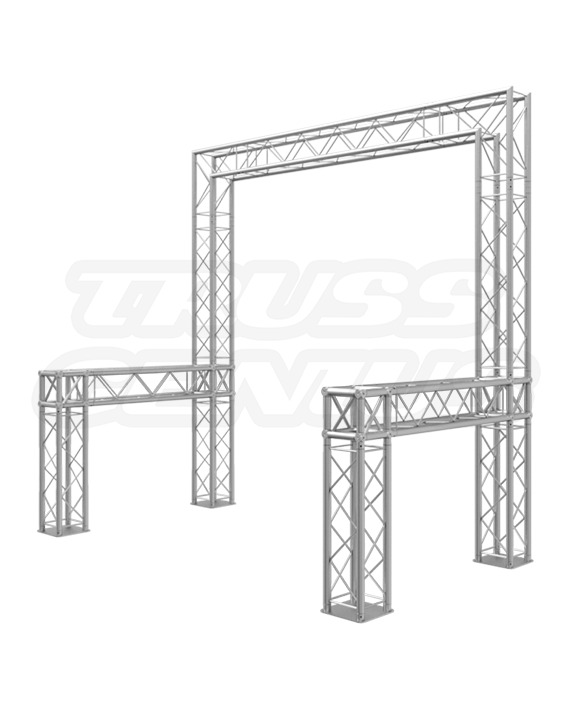 8-Foot Truss Trade Show Booth – Customizable Portable Exhibits