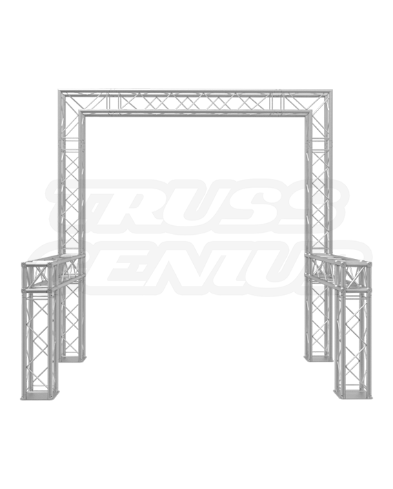 8x8 Truss Trade Show Booth - F24 Square Aluminum Trussing