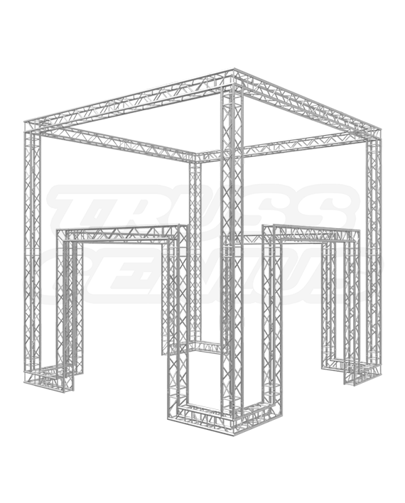 20-Foot F34 Square Truss Trade Show Booth Design