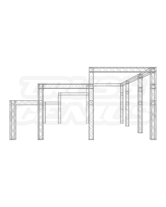 20x20 Triple Tier F24 Truss Trade Show Booth