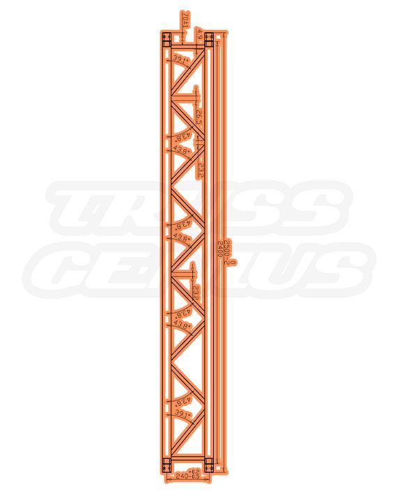 DT-4113P Measurements F34P Square Trussing