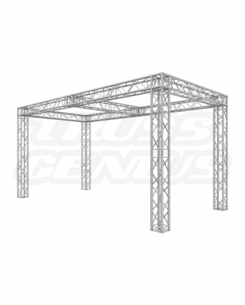 10x20 Truss Trade Show Booth with Center Beam