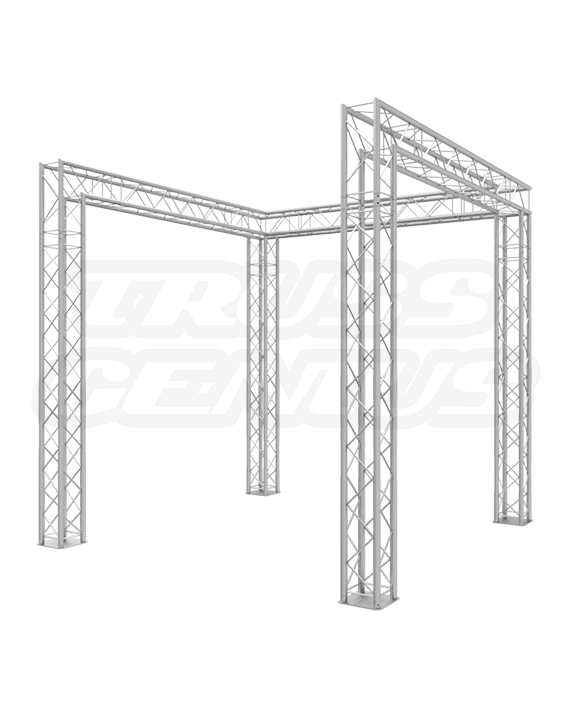 8-Foot Truss Trade Show Booth with Open Front