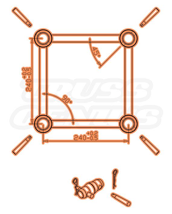 DT-4109P Dimensions F34P Square Truss