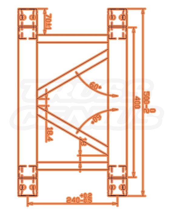 DT-4109P Measurements F34P Square Trussing