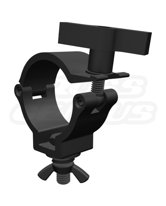 2-Inch Black Truss Clamp with Large T-Handle, Black Mini 360 Clamp HLD 50mm Wrap Around Medium Duty ClampCJS5001INB