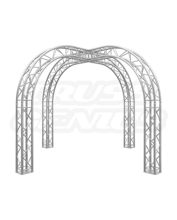 10-Foot Truss Trade Show Booth with Circular Arches