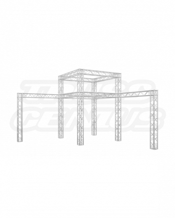 20×20 Trade Show Truss Booth Display with Corner Double Tier
