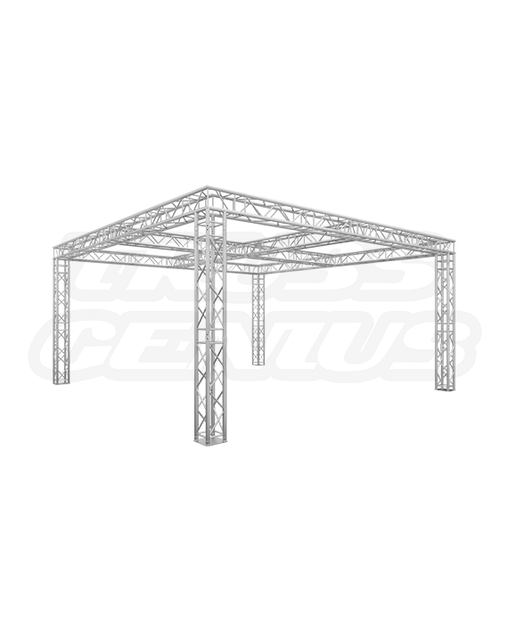 20x20 Truss Trade Show Booth with Center Cross Beams