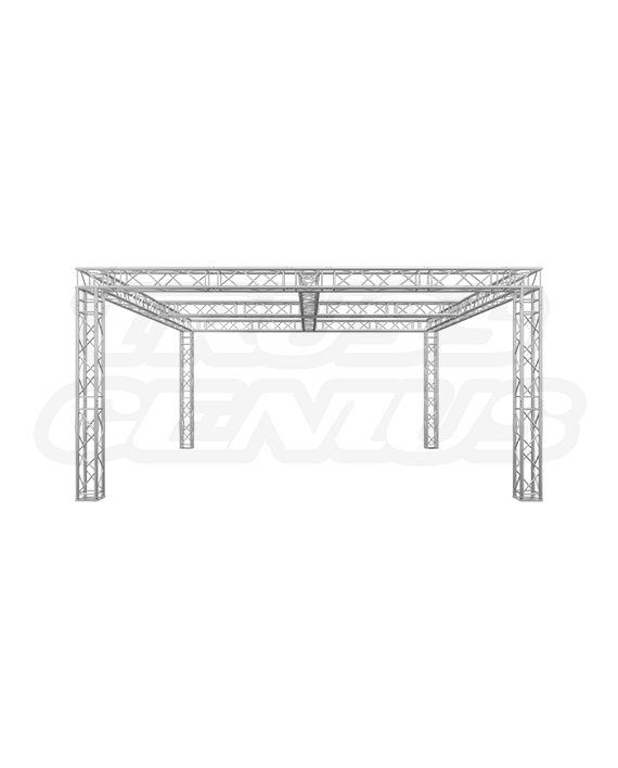 20x20x10 Truss Trade Show Booth with Center Cross Beams
