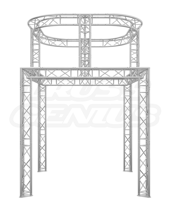 In-Line 10x10 Truss Booth with Dual Tier Circle