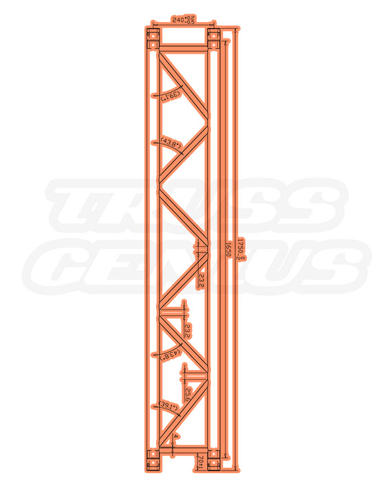 SQ-4111-175 Measurements F34 Square Trussing