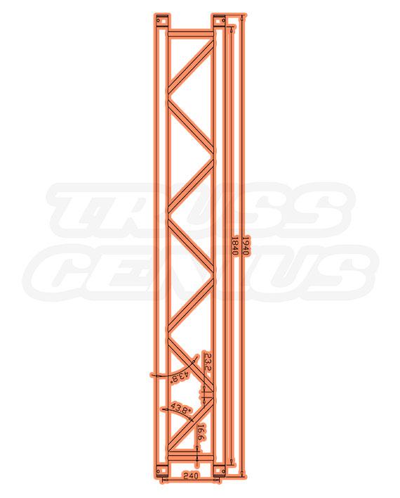 SQ-4112-194 Measurements F34 Square Trussing