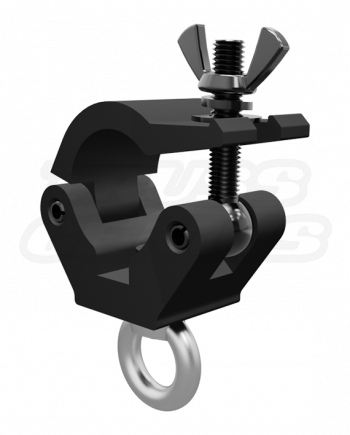 Black X-Pro Eye Clamp M12 - 2-Inch Extra Heavy Duty Pro Clamp with Welded Eye Nut