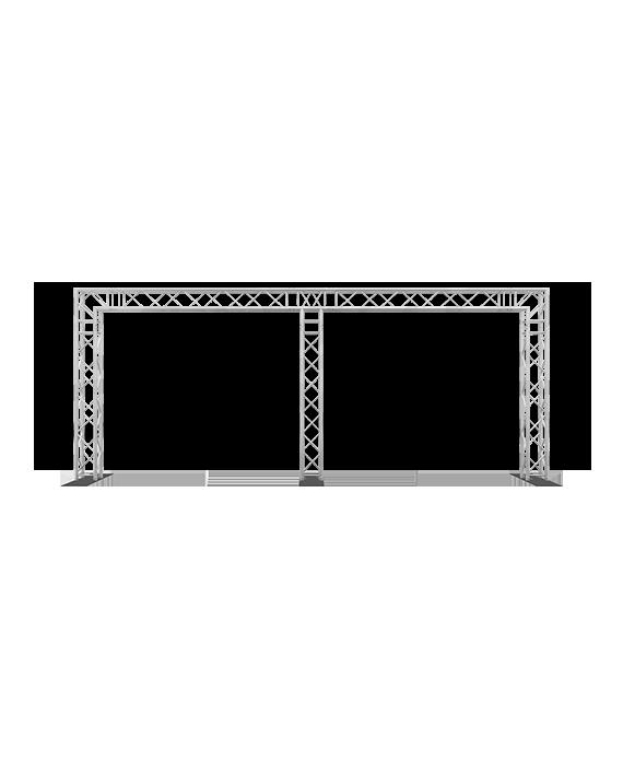 8-Foot x 20-Foot Tri Post F34 Square Truss System