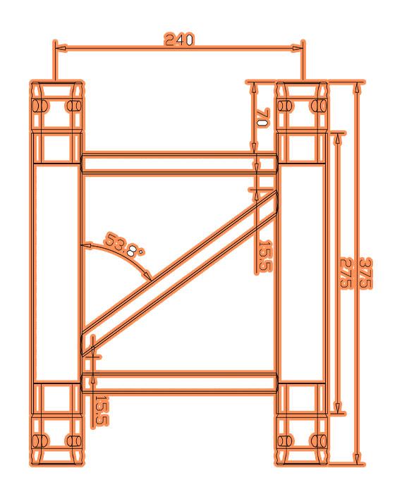TR-4076-375 Dimensions F33 Triangle Truss