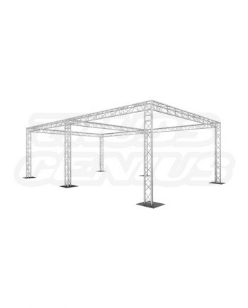20x30 Triangular Truss System with Center Beam