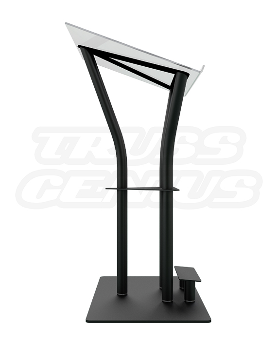 Ergo Acrylic Lectern Side View