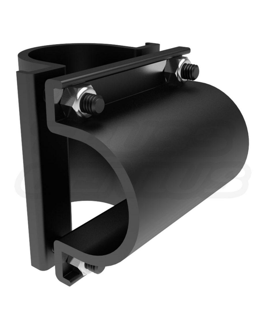 Black Mega-Gridlock MGB The Light Source 90-Degree Joint for Tube or Pipe