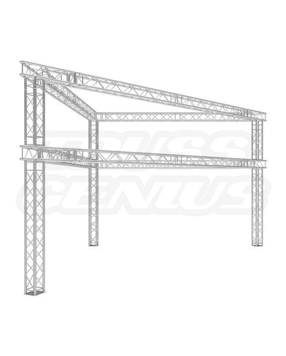 Trade Show Exhibit Display Booth 20×20 F33-TRI-DTB