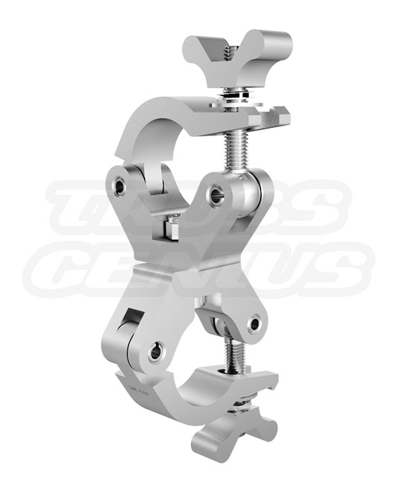 X-Pro Swivel Clamp Slim SS Global Truss Extra Heavy Duty 2-Inch Slim Dual Clamp with Stainless Steel Hardware